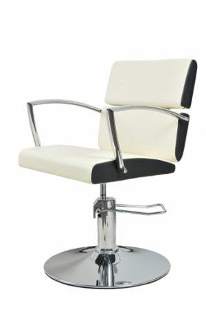 Radna stolica LENA  6927 - P4(KRUG) belo/crna