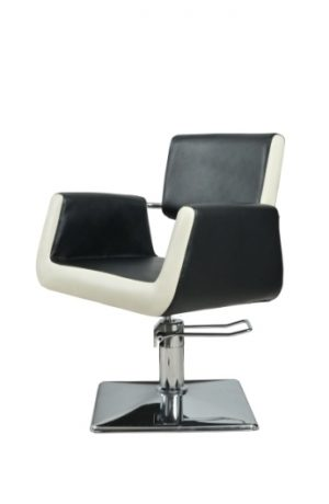 Radna stolica PLATTE  6916 - P1(KOCKA) crno/bela