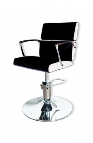 Radna stolica LENA  6927 - P4(KRUG) crno/bela